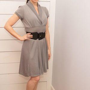 Maurice's Gray Jersey A-Line Dress, Size Medium